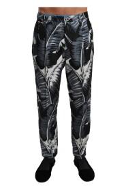 Banana Leaf Casual Trouser Silk Pants