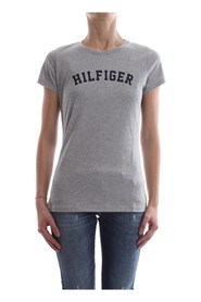TOMMY HILFIGER UW0UW00091 TEE PRINT T SHIRT AND TANK LONGWEAR Women GREY HEATHER