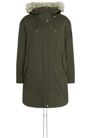CALVIN KLEIN K20K201191 PEACHED PARKA JACKET AND JACKETS Women Olive