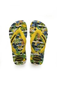 Havaianas - Klipklapper, Kids Minions - White / Yellow Citrus
