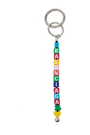 Keyring with logo charm