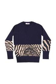 Sweater with zebra fabric