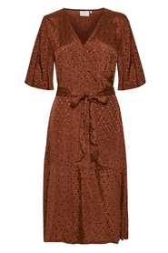 Kaffe - Kaanja Wrap Dress - Cherry Mahogany