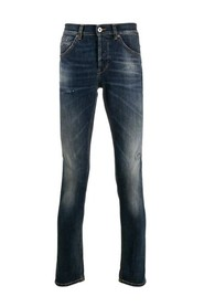 distressed effect george model jeans