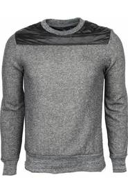 Sweater - Kunstleer Schouder Blanco Heren