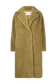 Maria faux-shearling coat