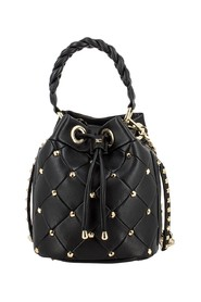 Faux leather bucket bag with studs