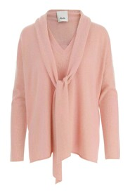 Pure cashmere sweater V-neck Bow