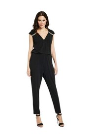 Sleeveless jumpsuit with applications