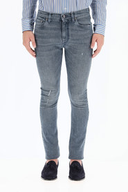 jeans with embroidered logo