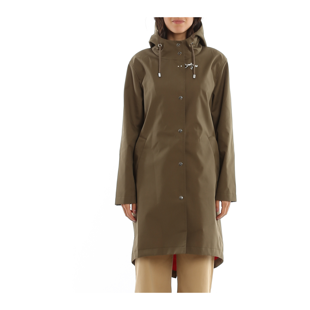 Fay Green WATER REPELLENT HOODED PARKA Fay