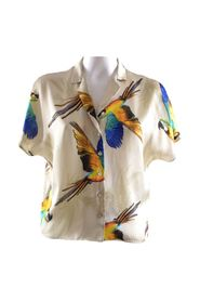shirt with parrot print