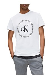 CALVIN KLEIN JEANS J30J314760 ROUND LOGO T SHIRT AND TANK Men BRIGHT WHITE