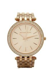 Champagne Rose Gold Plated Stainless Steel Darci MK3192 Women's Wristwatch 39 mm