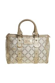 Metallic Gold/Cream Signature Canvas and Leather Snap Out Of It Satchel