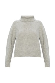 Sweater with band collar