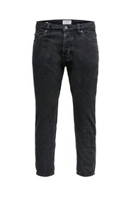 tapered fit jeans Cropped