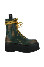 Double-stack lace-up boots