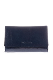 Elongated leather pouch with lightning and flap