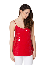 TOP IN PAILLETTES WITH THIN STRAPS