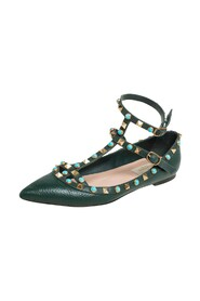 Pre-owned Ankle Strap Ballet Flats