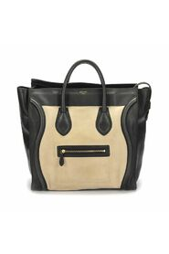Pre-owned Large Leather Luggage Tote