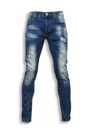 Exclusive Jeans - Slim Fit Damaged Look Stitched