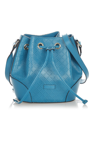 pre-owned Diamante Bright Leather Bucket Bag Leather Calf
