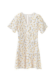 Luna Dress Vanilla Spring Bouquet