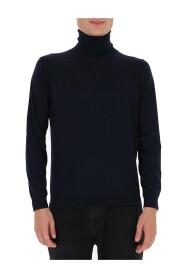 high neck knitted jumper