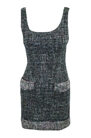 pre-owned Tweed Dress with Pockets