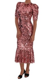 Sequined Sheath Knee Gown