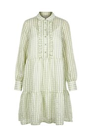 Shirt dress Checked midi