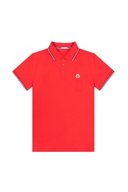 Polo shirt with patch