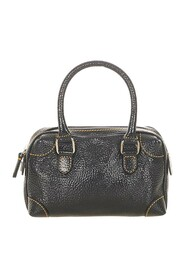 pre-owned Leather Boston Bag