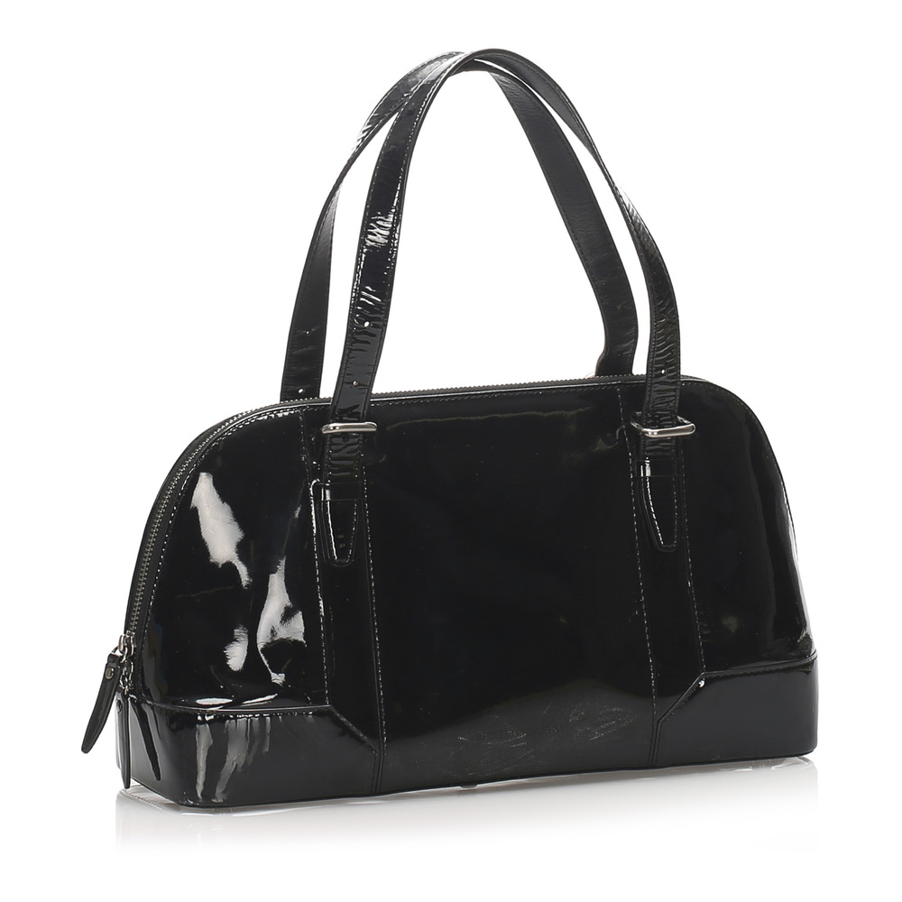 Burberry Vintage Pre-owned Black Patent Leather Shoulder Bag Burberry Vintage