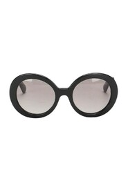 Pre-owned Tinted Roung Sunglasses Black