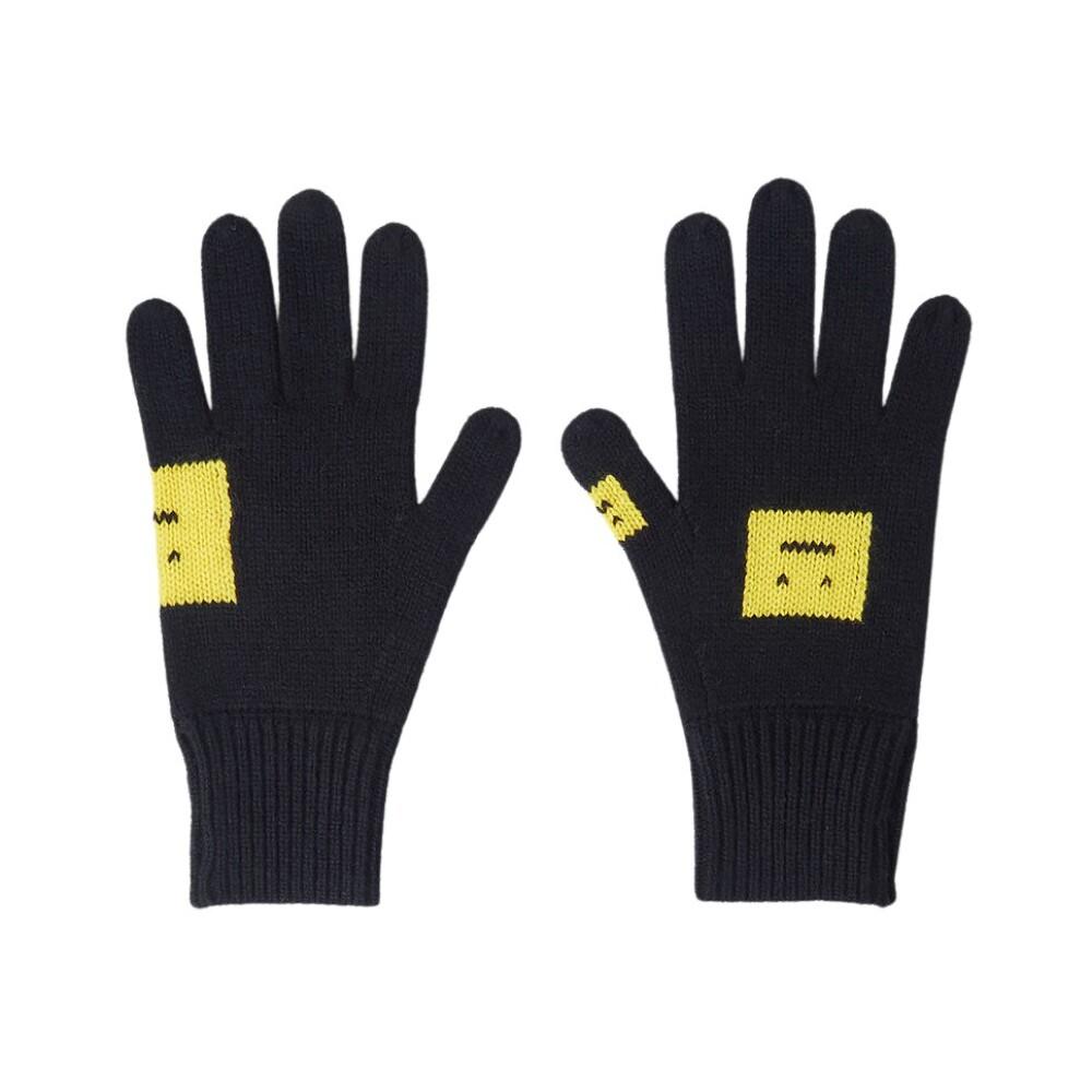 Acne Studios Evil Face Intarsia Gloves