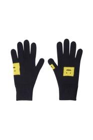 Evil Face Intarsia Gloves