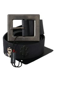 Cowboy belt with square buckle