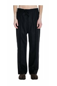 Baggy Striped Wool Trousers
