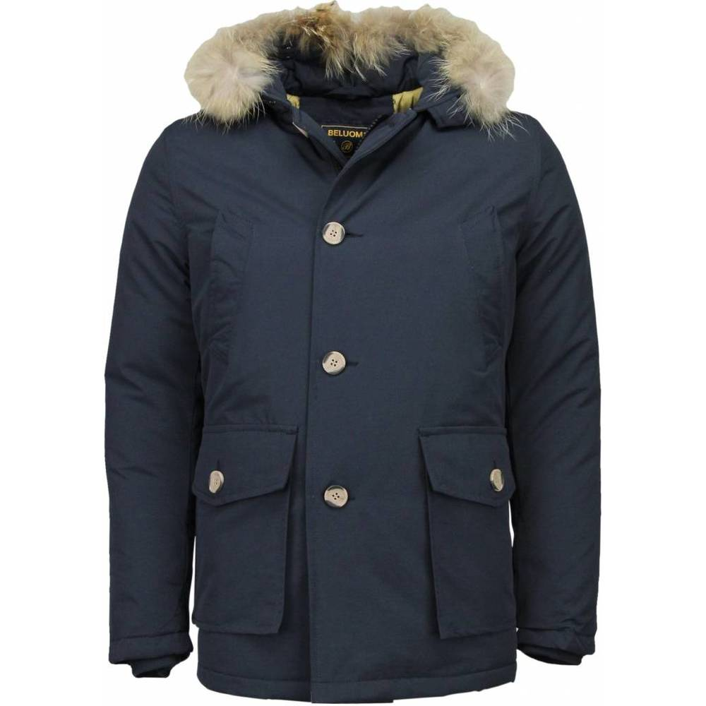 Mäns Winterjacket Long - Fur Collar - Parka Wooly