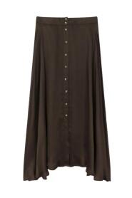 Jacinthe Plain buttoned long skirt