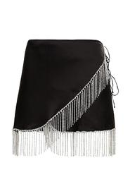 Skirt with Crystal Fringes detail