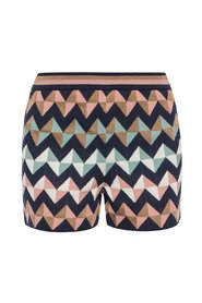 Shorts with geometric pattern
