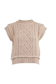 Malley Cable Knit Vest Overdeler