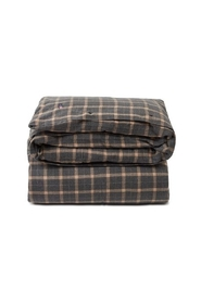 Checked Flannel Duvet Cover Interior