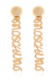 Clip-on earrings with logo