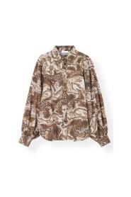 Printed Poplin Skjorte