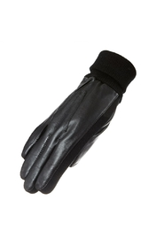 Men's glove in lambskin w / fleecefoot